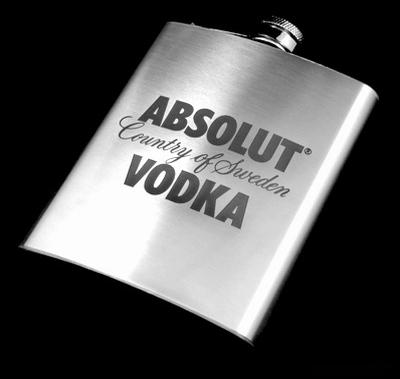 Nerezová placatka Absolut Vodka